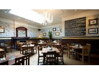 Fun, Floor staff needed for busy gastro pub