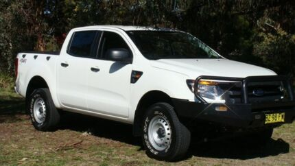 2014 Ford Ranger PX XL Double Cab White 6 Speed Manual Utility Oaks Estate Queanbeyan Area Preview