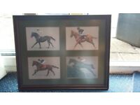 Horse Racing Picture(Drawing) in Frame
