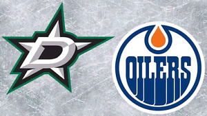 Below Cost Oilers vs Stars Center Ice Club Seats