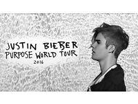 x 2 Justin Bieber Concert Tickets 17/10/16