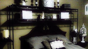 Gorgeous Over Bed Shelving (For Queen/King) - Storage w/ Style!!