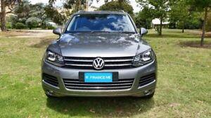 2014 Volkswagen Touareg 7P MY14 150TDI Tiptronic 4MOTION Canyon Grey 8 Speed Sports Automatic Wagon