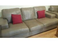 Ikea leather 3 seater setee and armchair