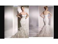 Designer wedding dress size 8 Eresma by San Partick: brand new and never worn