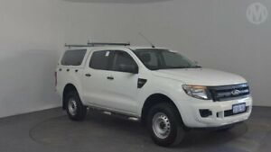 2015 Ford Ranger PX XL 2.2 Hi-Rider (4x2) Cool White 6 Speed Automatic Crew Cab Chassis Perth Airport Belmont Area Preview