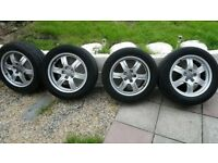 """4 Genuine Audi 17"""" Alloys With New Tyres"""