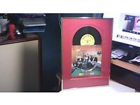 SNOOKER LOOPY RECORD FRAMED & SIGNED BY 5 SNOOKER PLAYERS-STEVE DAVIS, DENIS TAYLOR, WILLIE THORNE