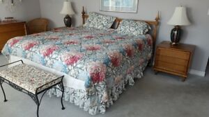 Bedroom Set With A King Size Mattress