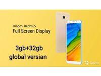 XIAOMI REDMI 5 5.7 FHD 18;9 SCREEN 3GB/32GB ROM 12MP/5MP CAMERA 3300mAh GLOBAL VERSION NEW UNLOCKED