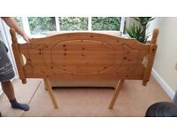 Great condition Solid Pine Wood Headboard for Double or Kingsize bed