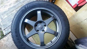 """18 Inch """" Fast """" Rims and Studded Winter Tires 235 55 R 18"""