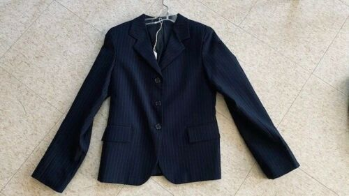 HUNT COAT Navy Pinstripe Youth  Size 14 *VGC*  100% Polyester