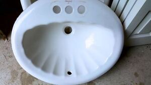 American standard one of a kind white sea shell Drop-in Sink