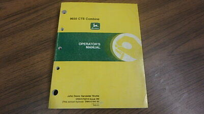 John Deere Operators Manual 9650 Cts Combine B50