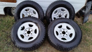 255/70R16 truck SUV tires on 6 bolt GMC Chevy Toyota rims