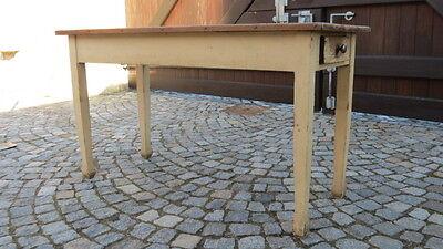 Wirtshaus-tisch (10/29/317 langer Tisch Gesindetisch Wirtshaustisch Küchentisch um 1900)