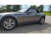 Mazda MX-5 - 2006. Grey. Red leather interior. Lowered Bilstein Suspension. Android Auto Head Unit.