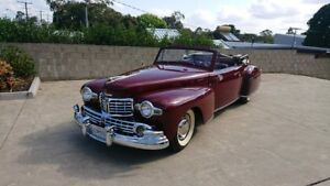 1948 Lincoln Continental Cabriolet Maroon 3 Speed Manual Cabriolet Capalaba Brisbane South East Preview