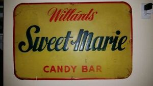 Annonce Willards SWEET MARIE sign 1960s