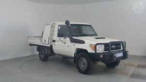2014 Toyota Landcruiser VDJ79R MY12 Update Workmate (4x4) French Vanilla 5 Speed Manual Cab Chassis Perth Airport Belmont Area Preview