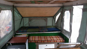 Tent trailer with papers