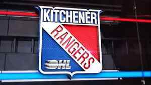 9 GOLD SEATS KITCHENER RANGERS OCT. 28TH AND 30TH NOV. 4TH