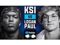 KSI VS LOGAN PAUL CHEAP TICKET WITH GIFT WRAP