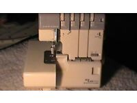 Janome 634d overlocker sewing machine.