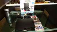 PS3 + Move (camera/motion) + 2 Controllers + 3 Games *LIKE NEW*