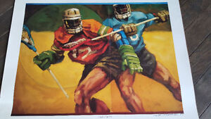 Limited Edition Lacrosse Print  GO RUSH NEW