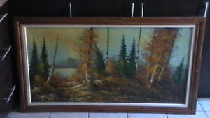 Very large Oil On Canvas Painting