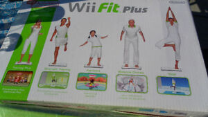 wii fit plus NEW board and cd games included or best offer