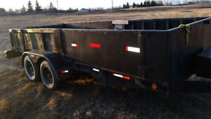 18' car trailer with wide ramps 7000lbs with disc breaks..