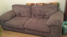 Three seater sofa (grey)