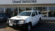2013 Toyota Hilux KUN26R MY12 SR Double Cab White 5 Speed Manual Utility Blair Athol Port Adelaide Area Preview