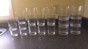 Set of 17 Drinking Glasses