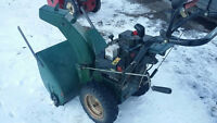 """CRAFTSMAN II 11HP 30"""" CUT. New Belts Ready for Snow. Will Trade!"""