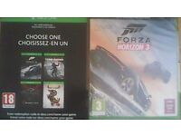 Forza Horizon 3 (SEALED) + Choice of 4 games card (Download Code) - Xbox One