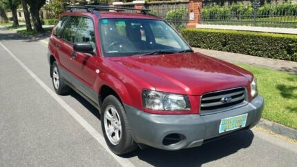 2003 Subaru Forester MY03 XS Red 5 Speed Manual Wagon Nailsworth Prospect Area Preview