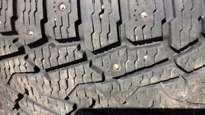 LT 265/75 R 16 STUDDED WINTER TIRES with CHEVY RIMS(10PLY)