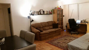 Large, heated 1 BR downtown available April