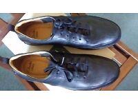 real leather MEN'S clarks black shoes 9UK
