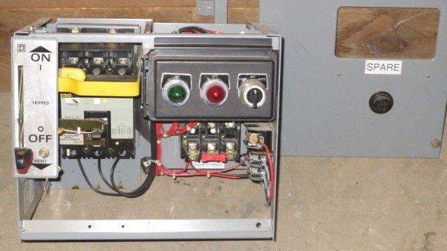 "SQUARE D 12"" MCC BUCKET 480 VAC W/ 3 AMP FHP BREAKER & NEMA SIZE 1 STARTER"