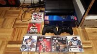 Playstation 3, 6 jeux/games, 2 manettes/controllers