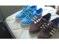 addidas gazelle blue and brown
