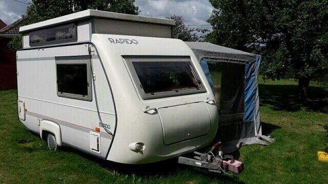 Rapido 31T 2 Berth Pop Top Caravan 1994 with awning. Good ...