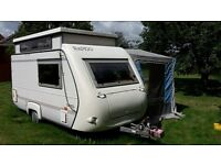 Rapido 31T 2 Berth Pop Top Caravan 1994 with awning. Good condition