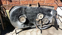 Lawn Tractor/mower 38 inch deck with good hubs and blades