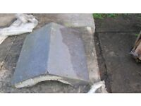 staffordshire blue angled coping stones